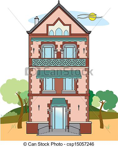 EPS Vector of Beautiful building.