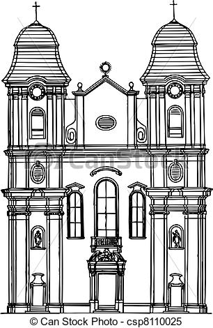 Clipart Vector of Building.