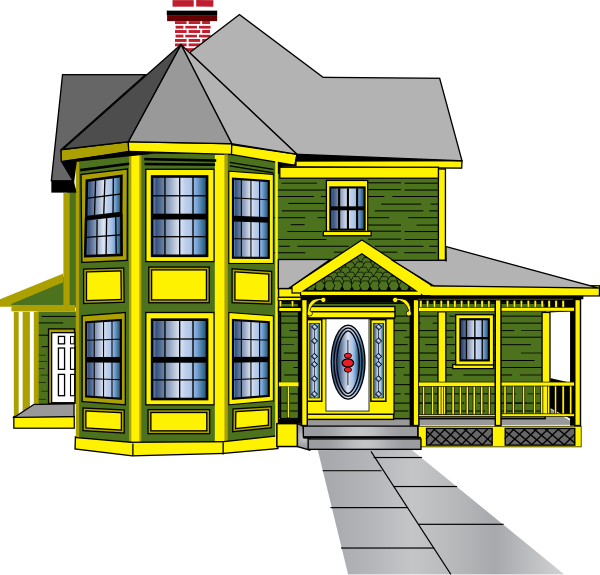 Beautiful buildings clipart.