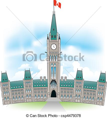 Vector of Canadian Parliament Building.