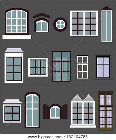 Window windows casement gap house building light different variety.