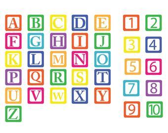 Baby block alphabet.