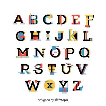 Alphabet Vectors, Photos and PSD files.