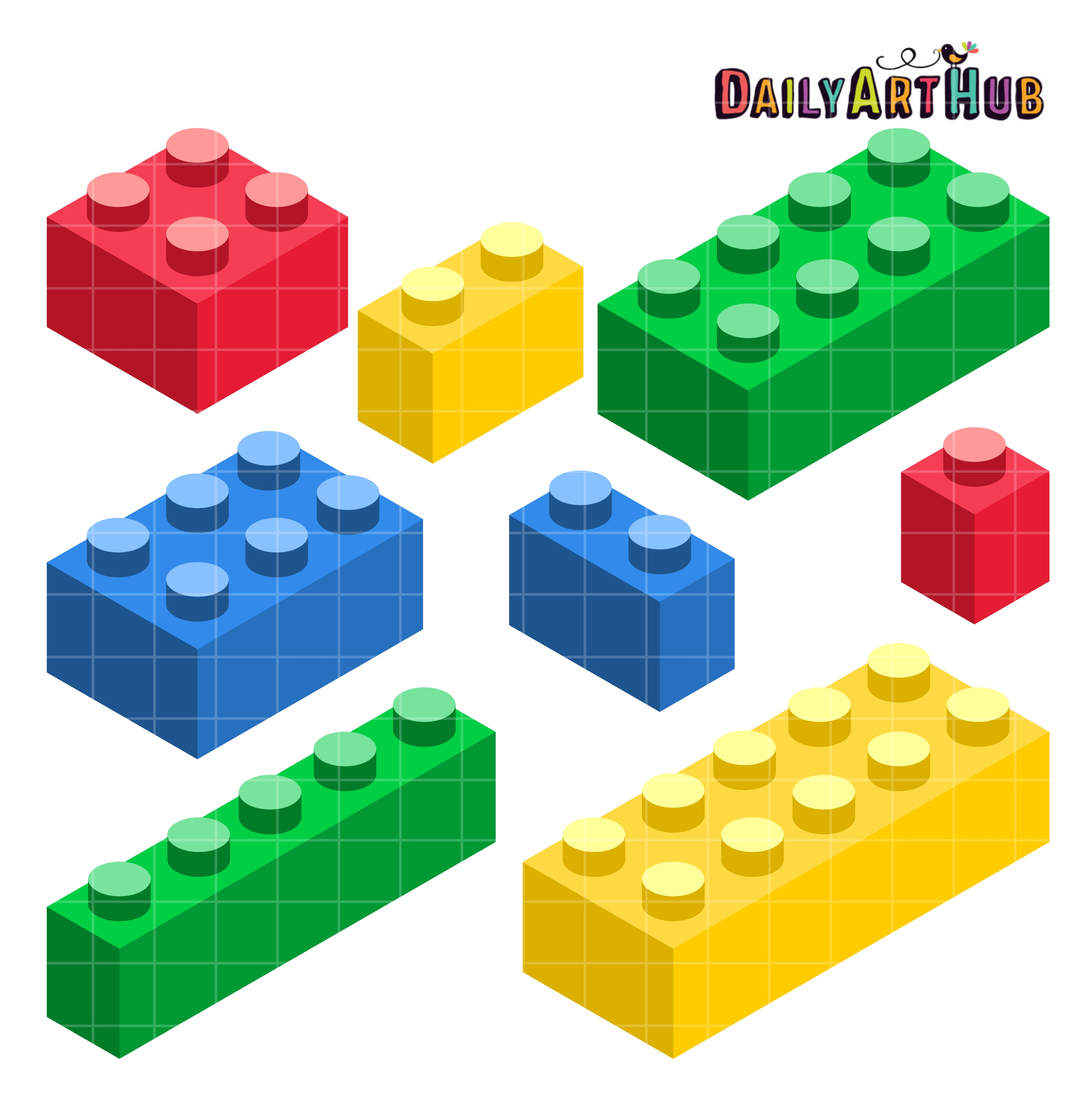 Building Blocks Clip Art Set.