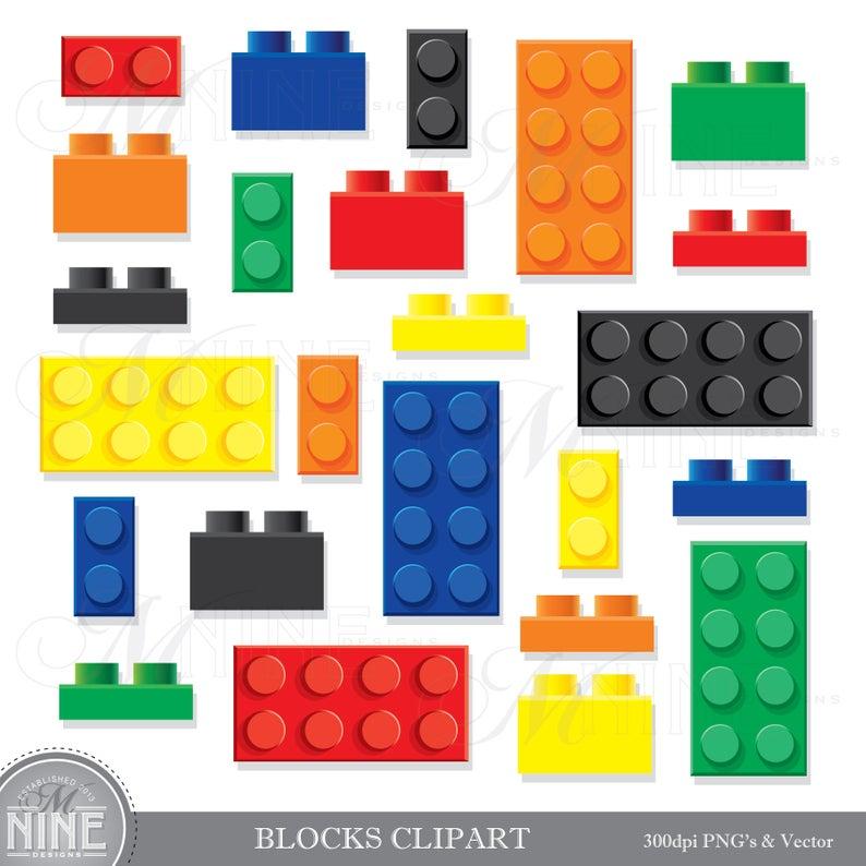 BUILDING BLOCKS Clip Art / Building Bricks Clipart Downloads / Kids Toy  Party, Vector Clip Art, Kids Toys Clipart.