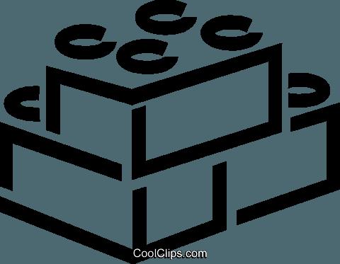 Building blocks Royalty Free Vector Clip Art illustration.