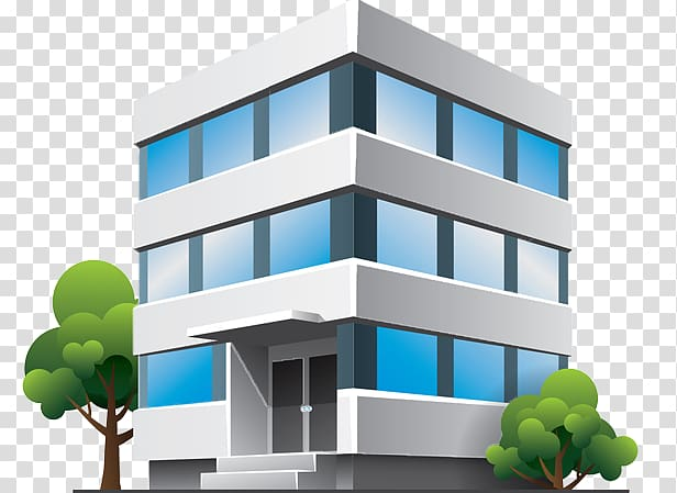 Building Cartoon Facade, building transparent background PNG.