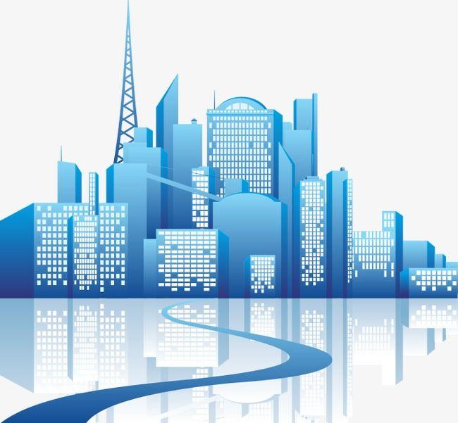 Cartoon City Building Buildings, Cartoon Vector, City Vector.
