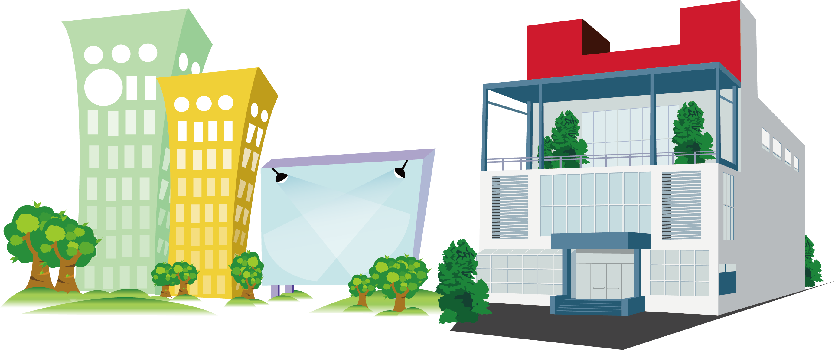 Download Building Company Cartoon Office Architecture Free PNG HQ.