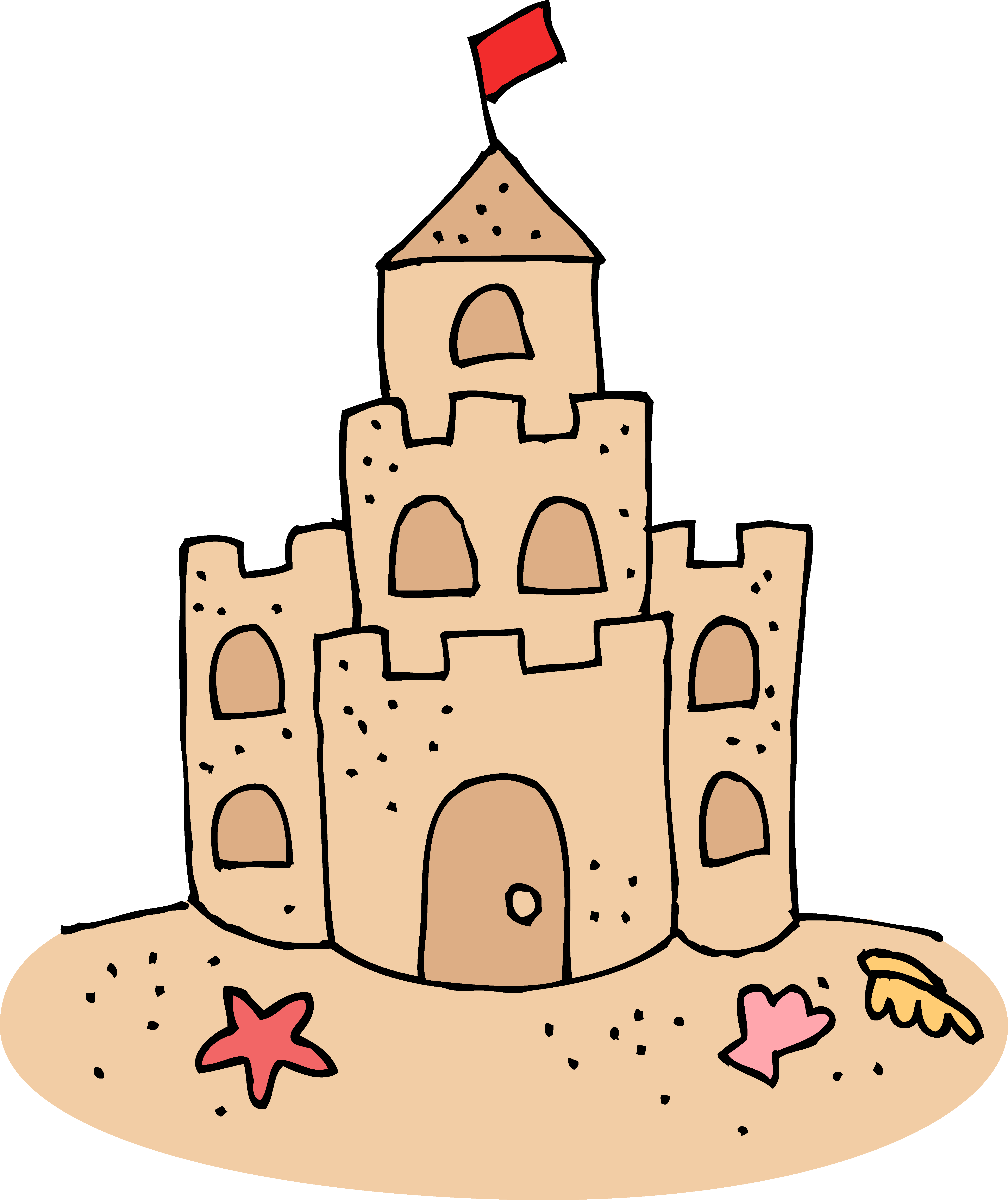 Building sandcastle clipart.