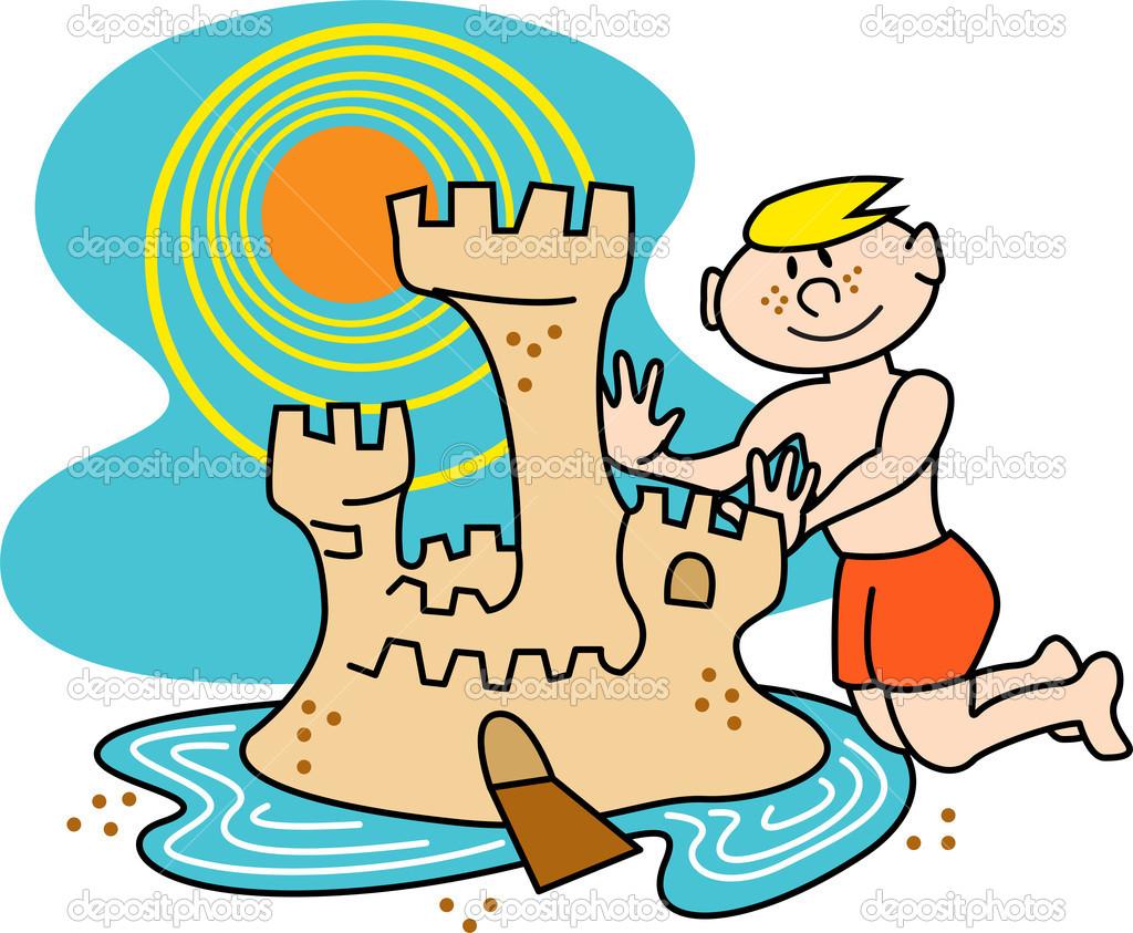 Clip Art Building Sandcastles Clipart.