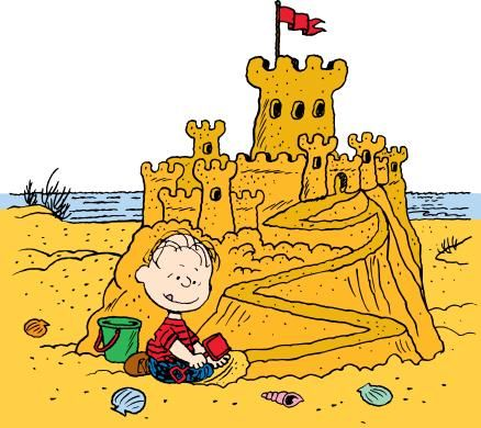 Happiness is building a sand castle..