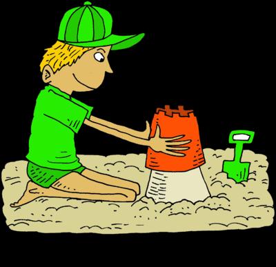 Building sandcastle clipart.
