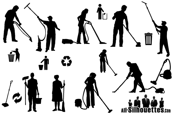 Free Vector Cleaner Silhouettes.
