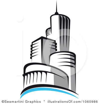 Building Clip Art Black And White.