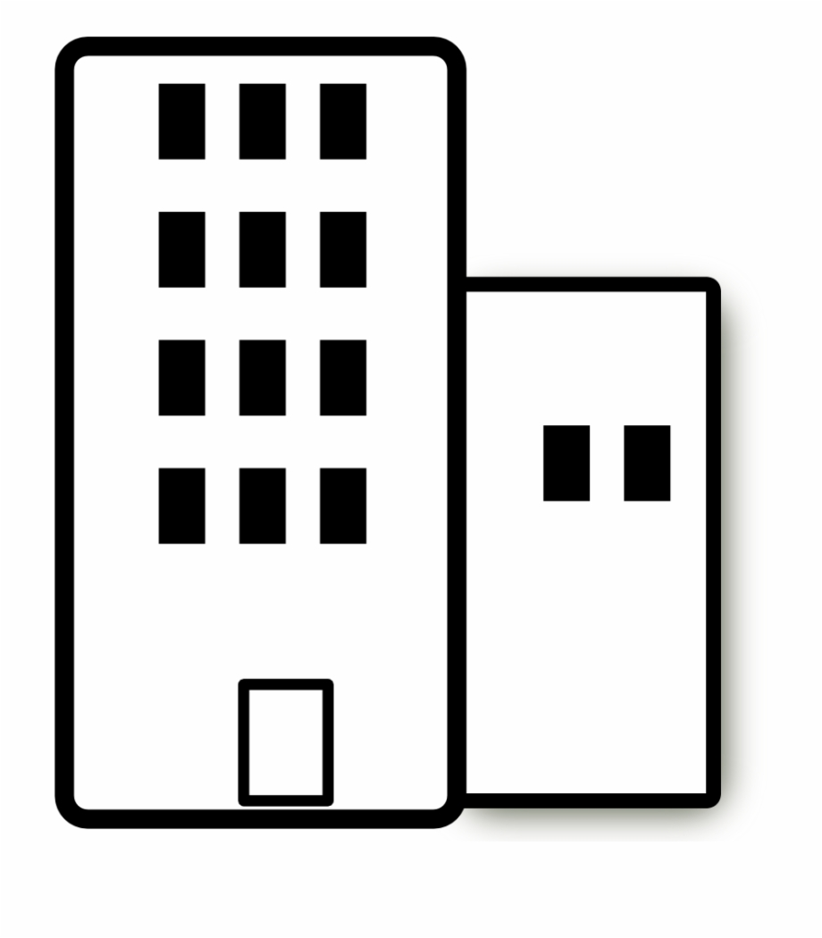 Office Building Svg Royalty Free Stock Black And White.