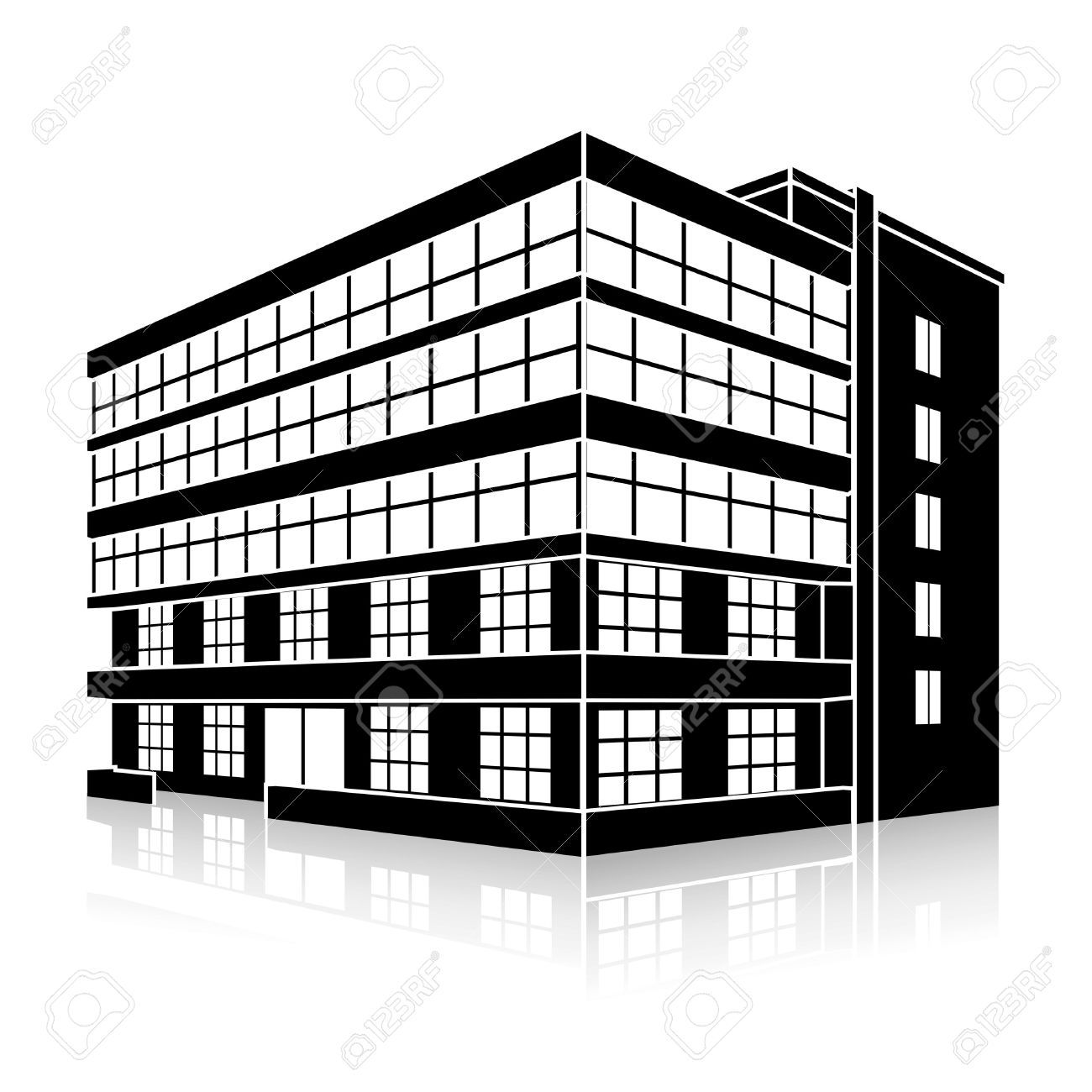 Office building clipart black and white 5 » Clipart Portal.