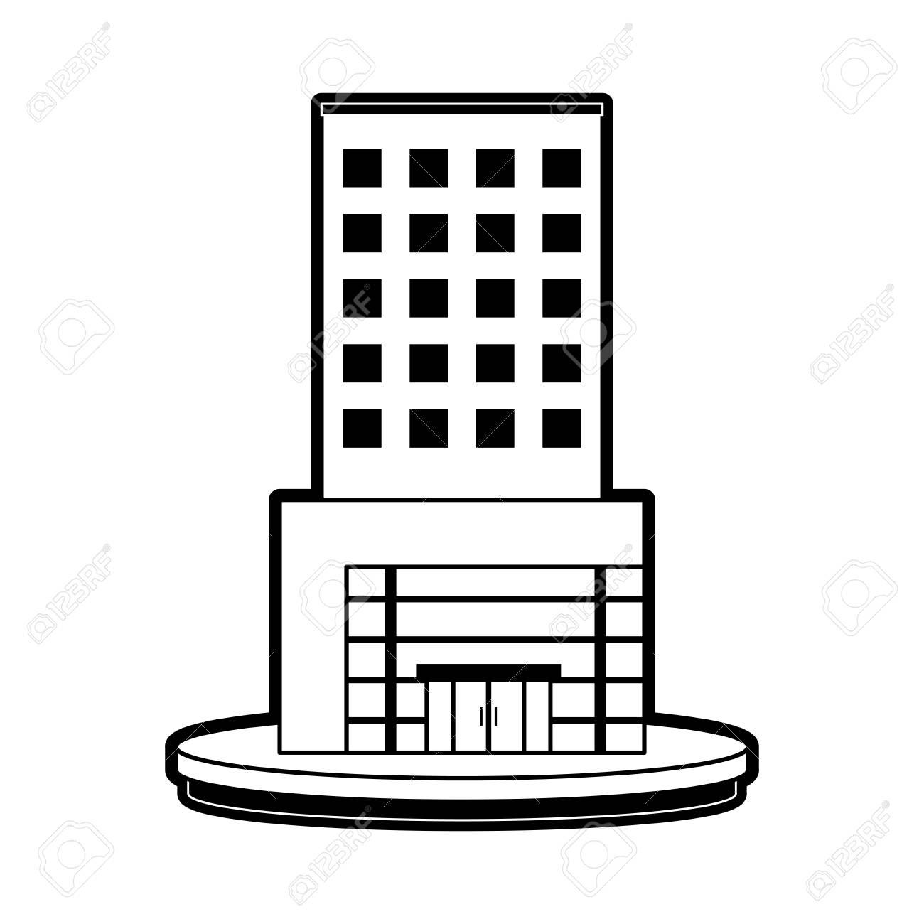 big city building icon image vector illustration design black...