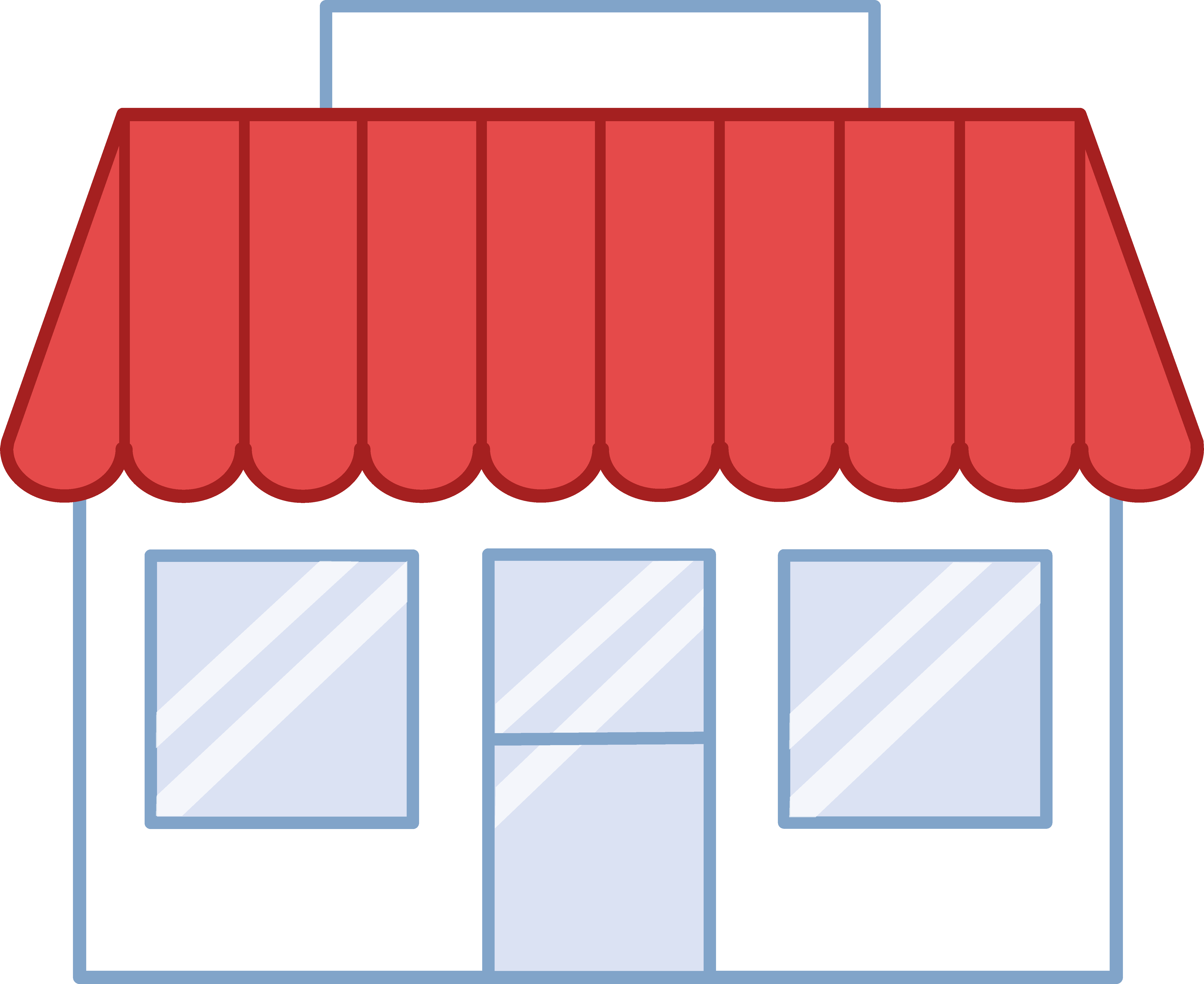 Store Building Free Clipart.