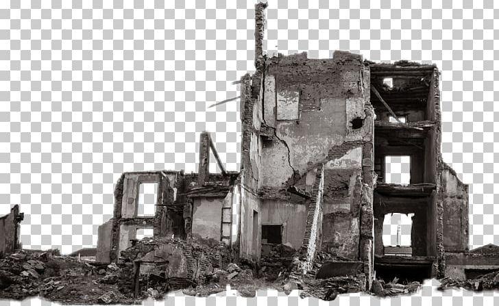 Building Ruins City PicsArt Photo Studio PNG, Clipart, Black.