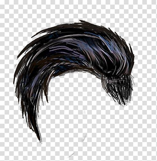 Black brush painting, PicsArt Studio Hair editing, chalk.