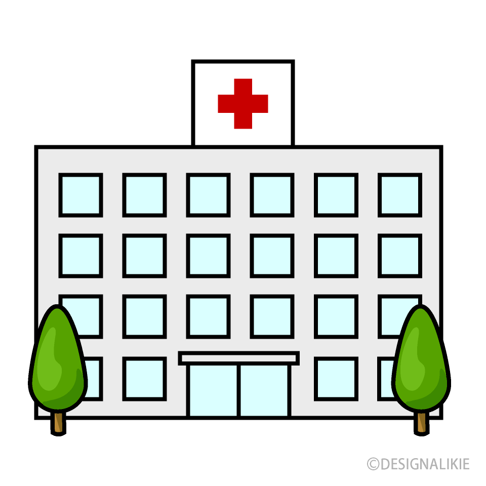 Free Hospital Building Clipart Image|Illustoon.