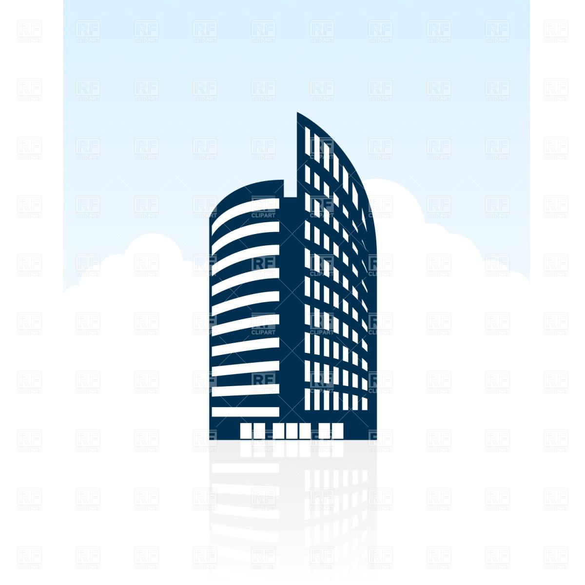 Modern Building Silhouette.