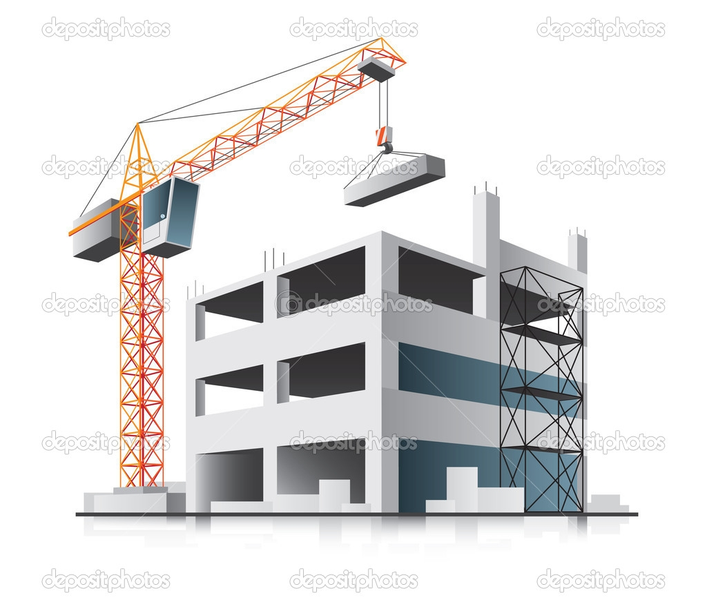 Under construction building clipart.