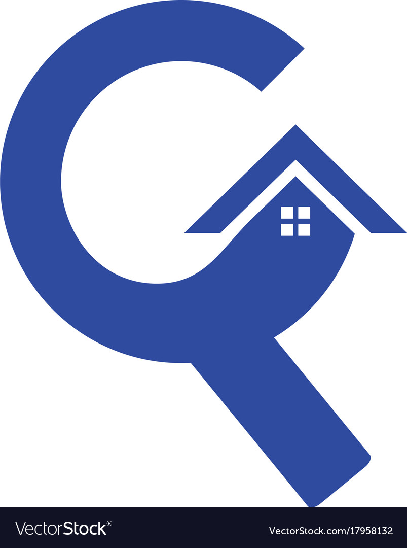 Letter c roof building construction logo.
