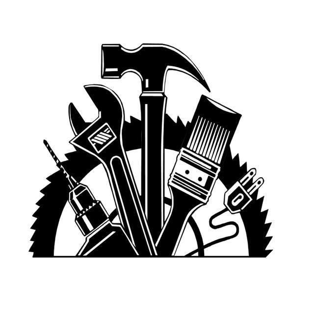 construction general contractor logos clipart.