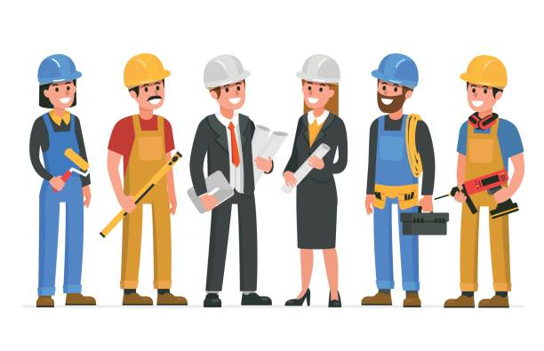 Best Building Contractor Illustrations, Royalty.