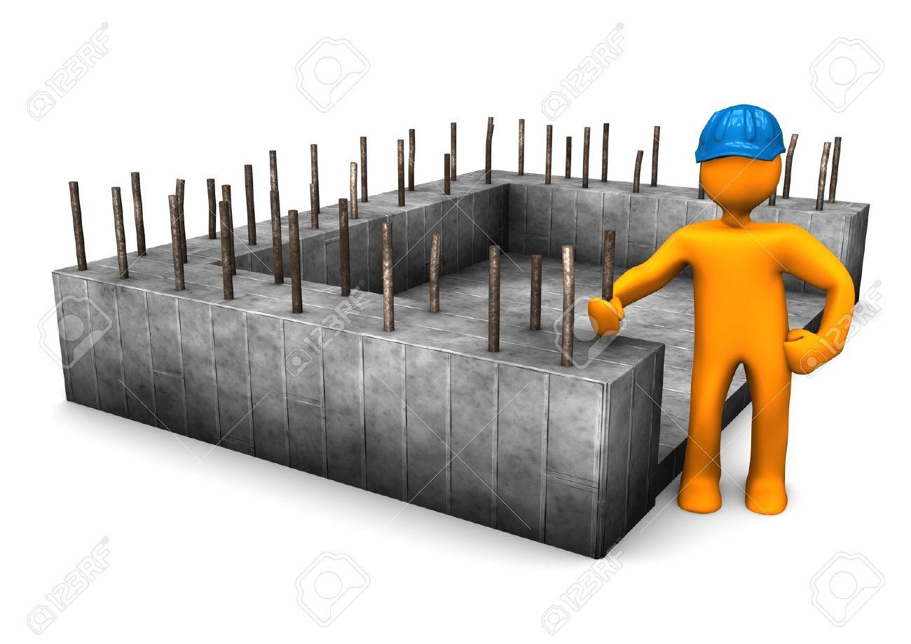 Foundation Building Clipart.