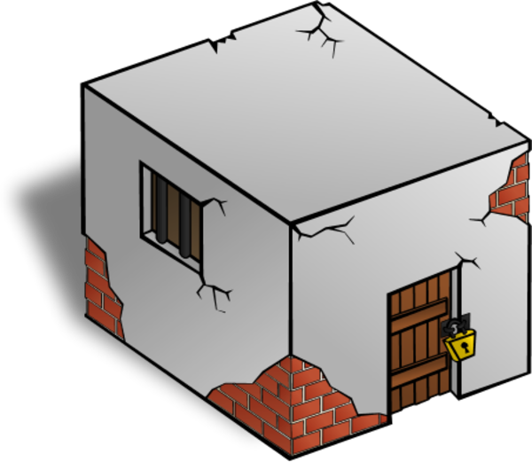 Building Cracked Clipart.