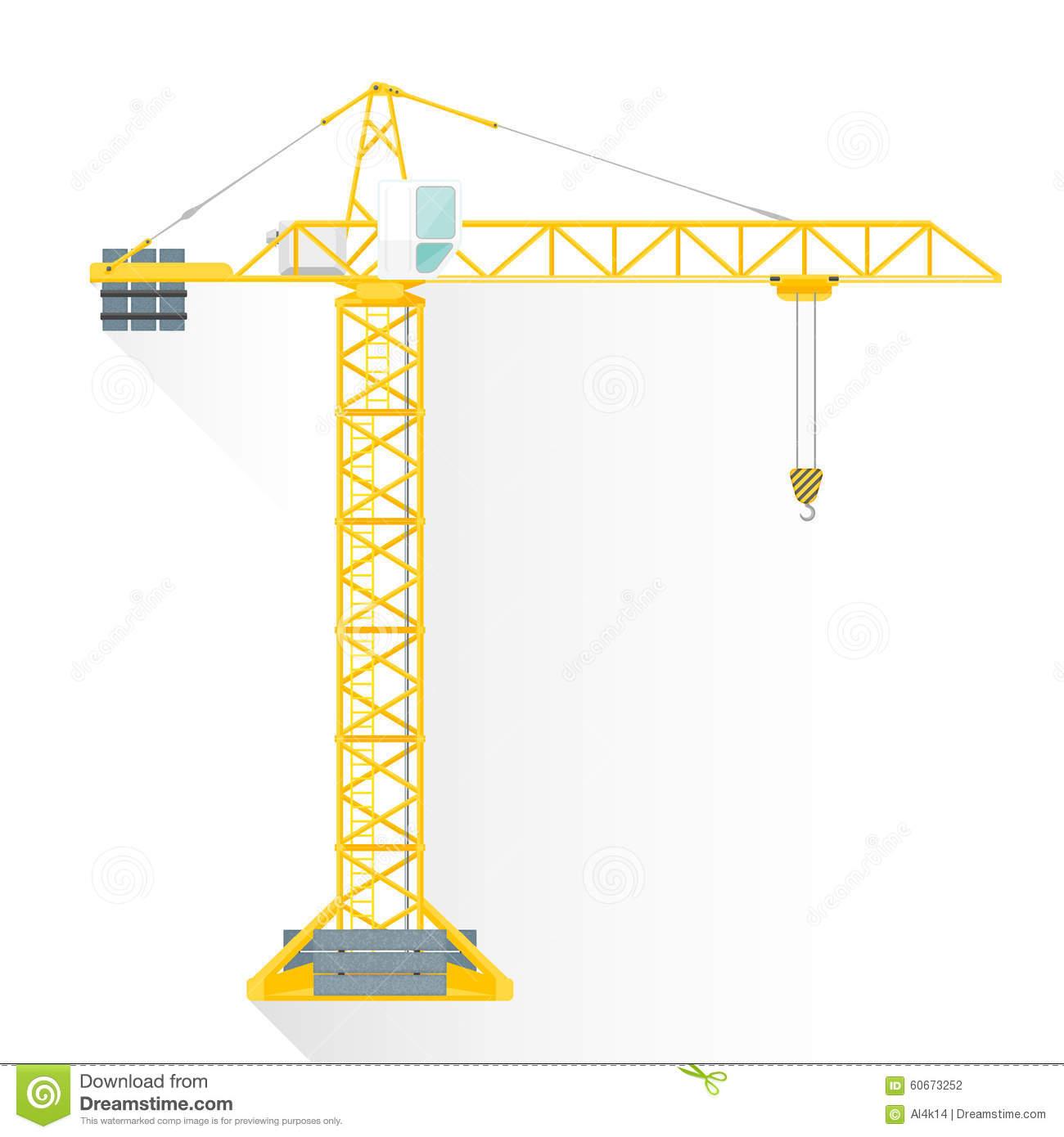 Tower Crane Vector Stock Photo.
