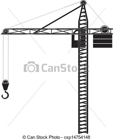 Drawing of Building crane.