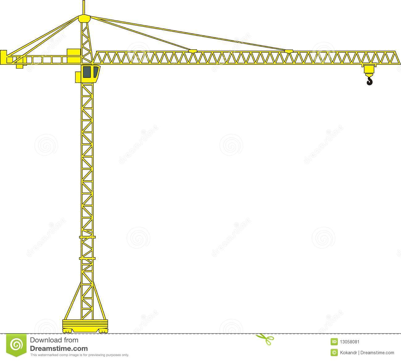 Tower Crane Vector Stock Photo.