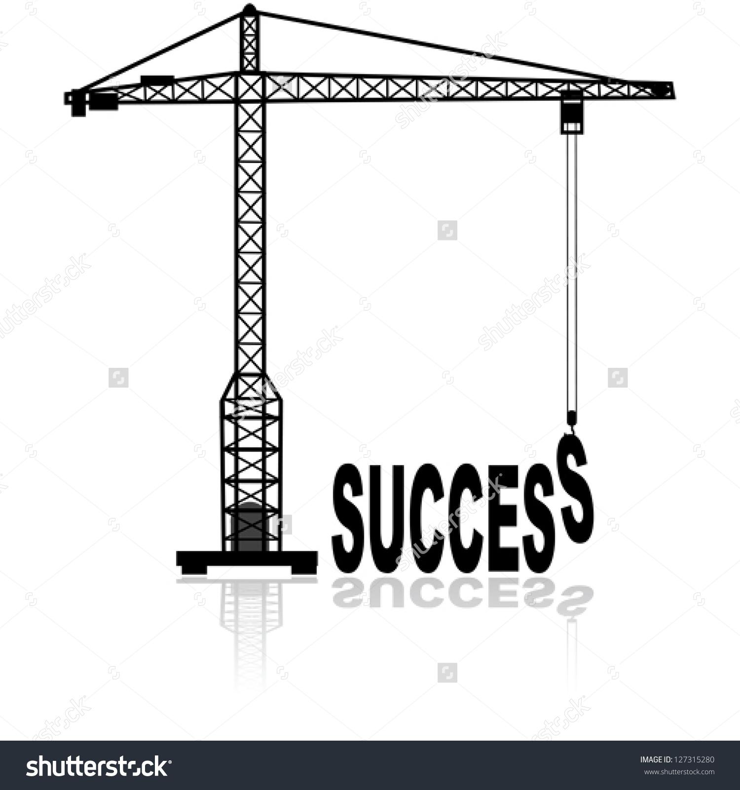 Concept Vector Illustration Showing Construction Crane Stock.