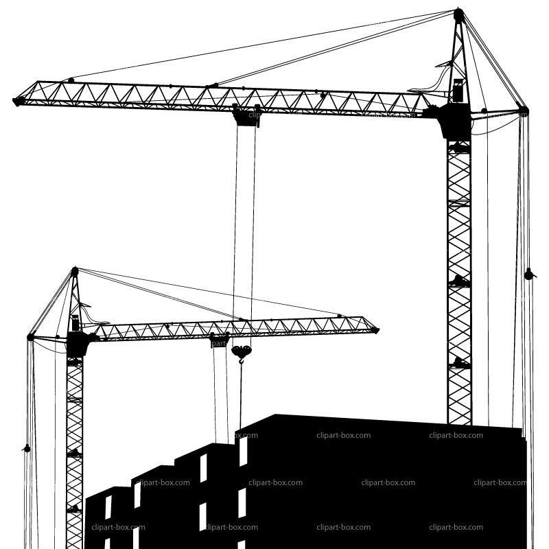 CLIPART CRANE BUILDING.