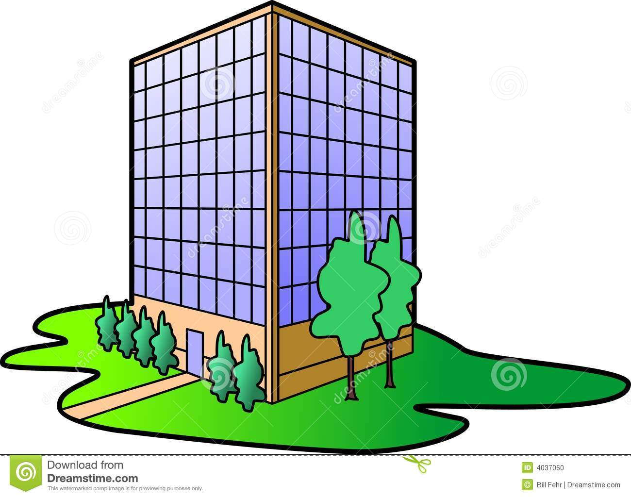 Office Building Stock Photo.