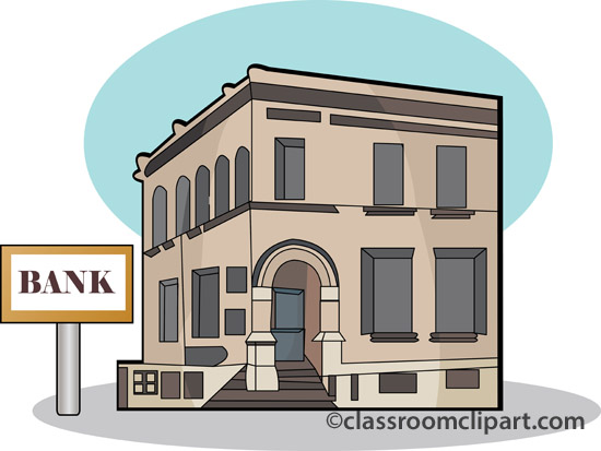 Clipart bank building.