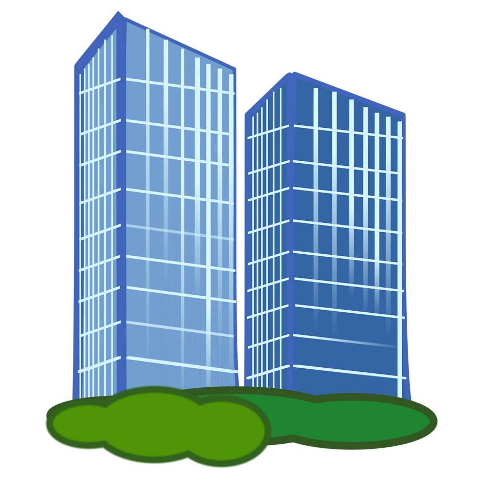 Transparent building clipart.
