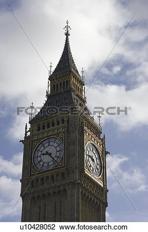 Stock Photo of Blue, Building Exterior, Building Structure, Clock.