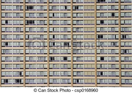 Stock Photography of Apartment Building Face.