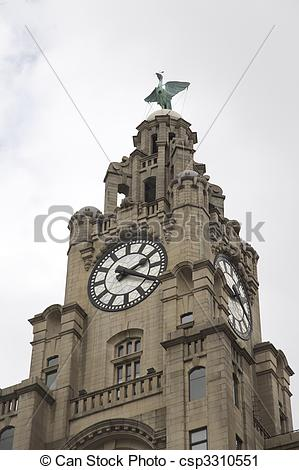 Clipart of Clock face of the Royal live building..
