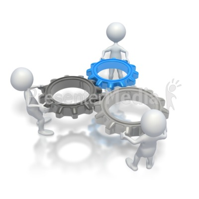 Animated Teamwork Clipart.