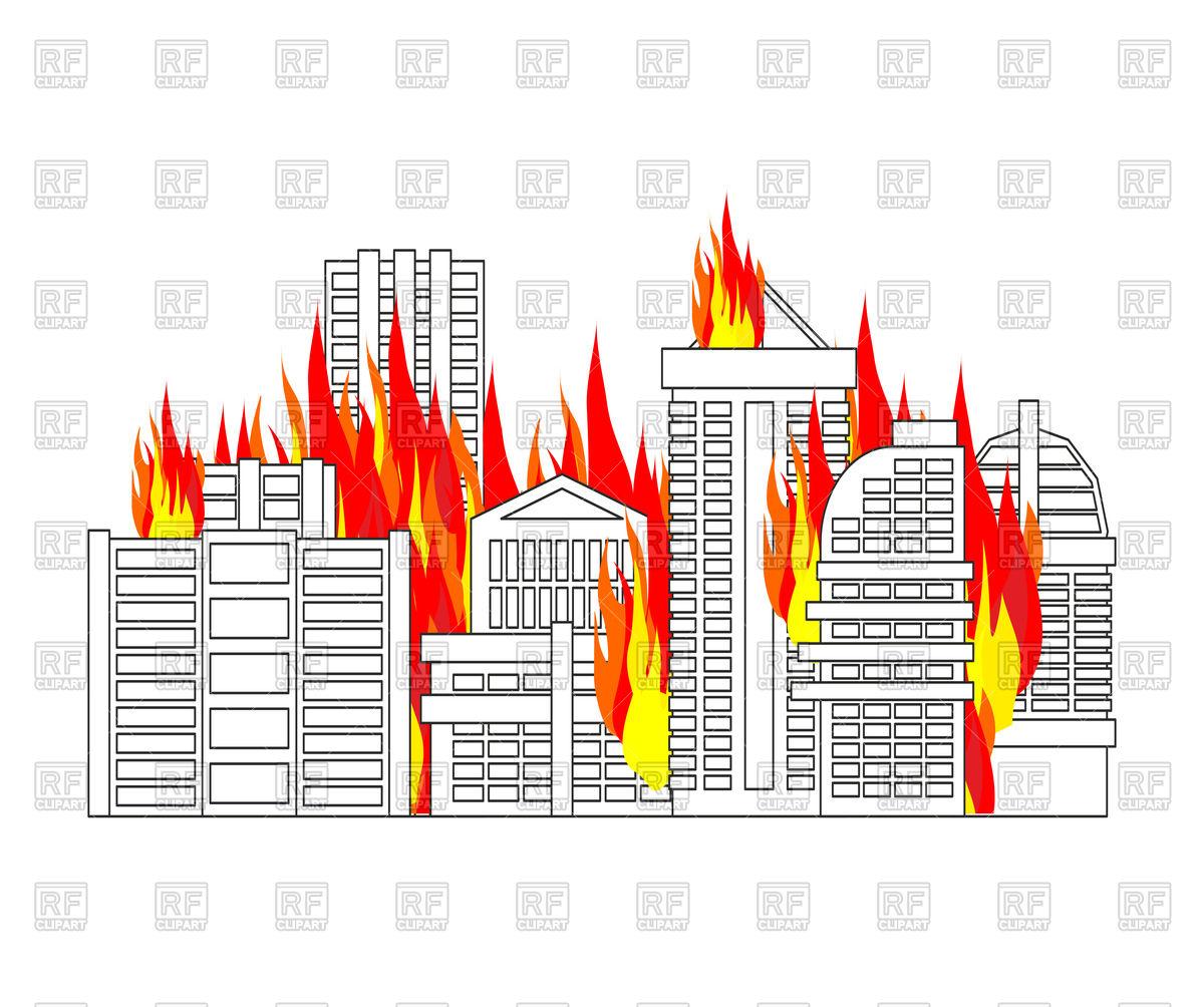 City fire.