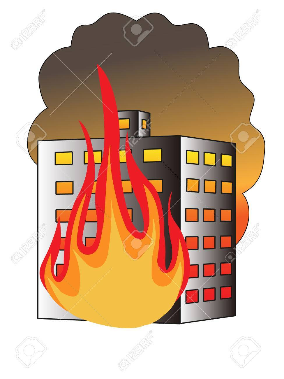 Building on fire clipart 2 » Clipart Portal.