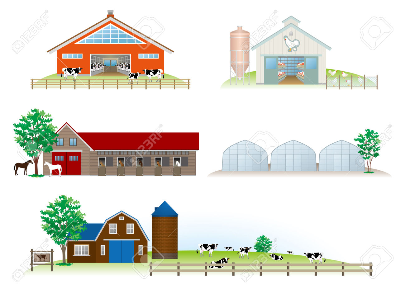Building Livestock Royalty Free Cliparts, Vectors, And Stock.