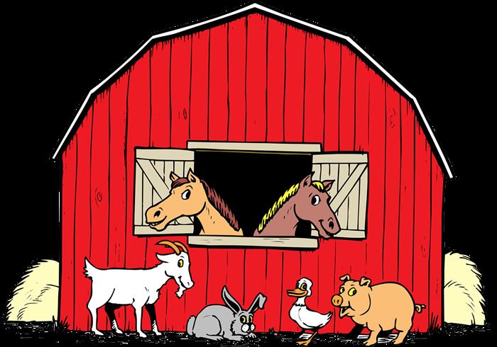 Red farm clipart #4