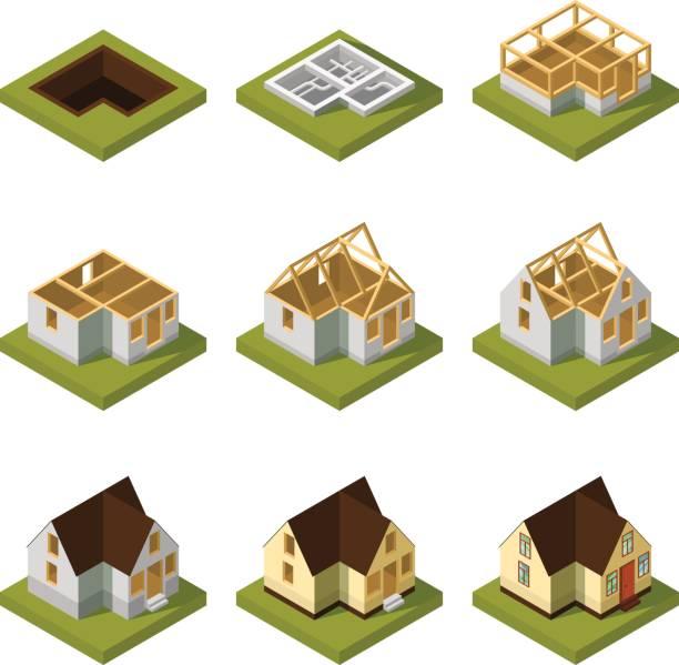 Best Building Foundation Illustrations, Royalty.